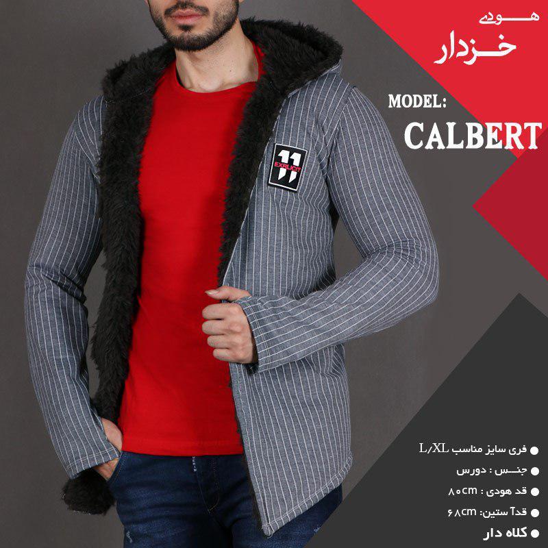 هودی خزدار مردانه  مدل  Calbert